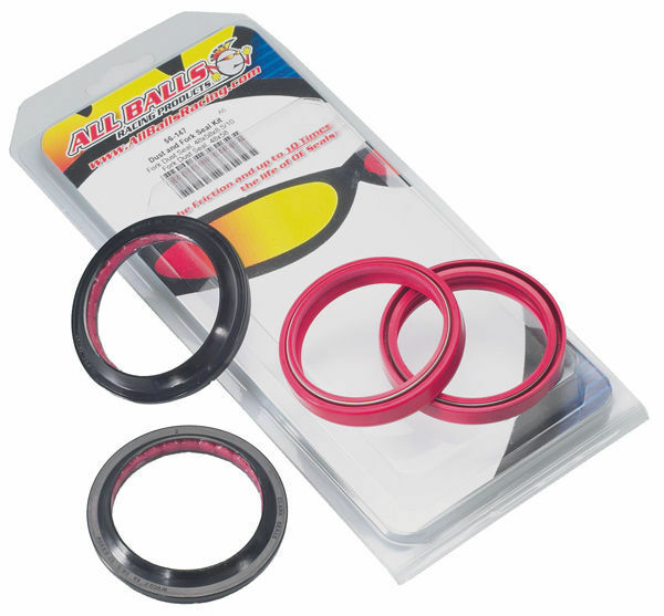 All Balls Fork Oil Seal Kit AND Dust Seal Kit SET 56-132
