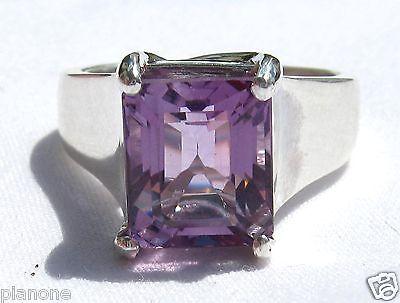 10 Carat Purple Amethyst Dangle Earrings with French Hook Sterling Silver .925