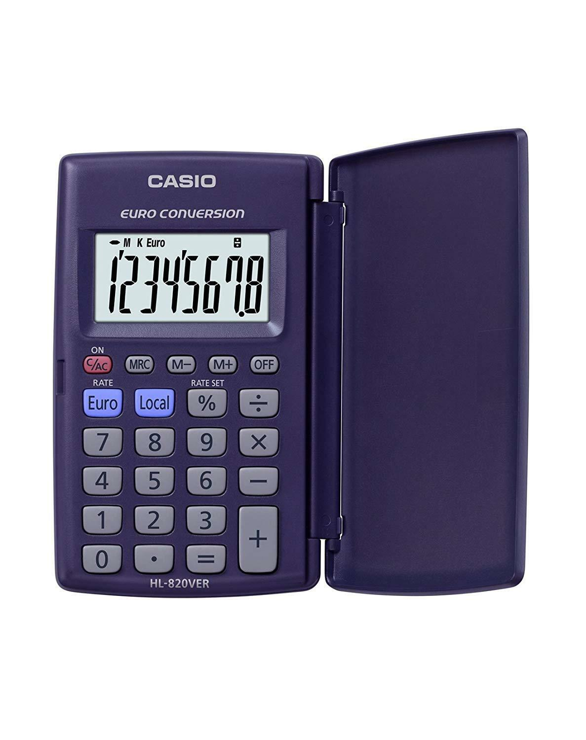 NEW Casio HL-820VER Pocket Calculator Euro € Conversion with Large Display