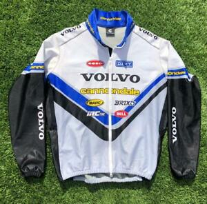 Cannondale-Volvo-Thick-Heavy-Seal-Skin-Feel-Cycling-Racing-Jacket-Jersey-XL