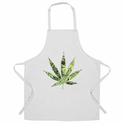 Recreational Chef/'s Apron Marijuana Leaf Cutout Cannabis Dope Logo Chill Fun