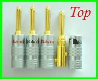 50 Nakamichi Speaker Banana Plug Adapter Audio Connector 24k Top Usa N0534d
