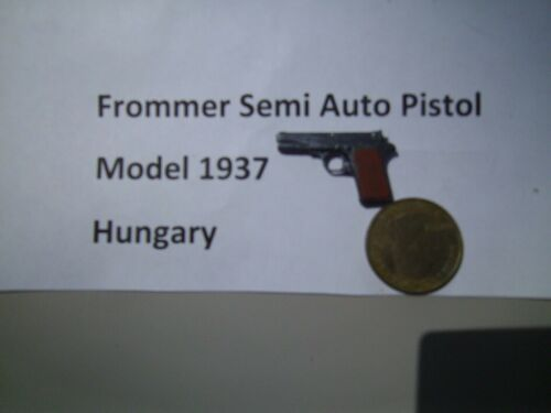1//6 WWII Homemade Frommer M1937 semi automatic pistol Hungarian