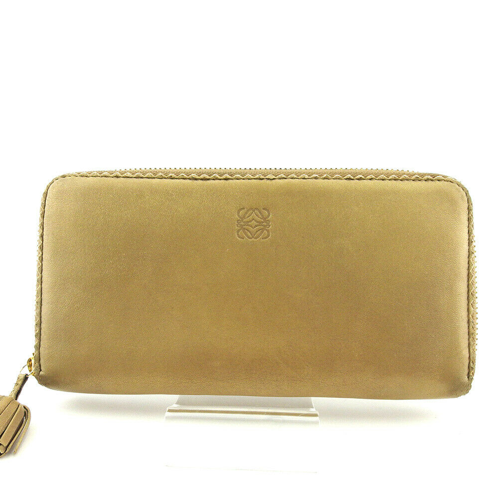 LOEWE wallet anagram leather Auth used E1539