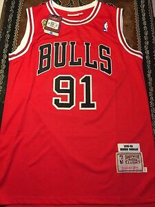 first rate 62757 672c5 Details about NBA VINTAGE MITCHELL & NESS CHICAGO BULLS DENNIS RODMAN  JERSEY SIZE M
