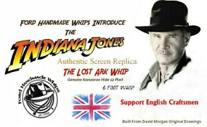 Collectors-Replica-Of-Indiana-Jones-Bullwhip-6-Foot-Version-Stunt-Whip