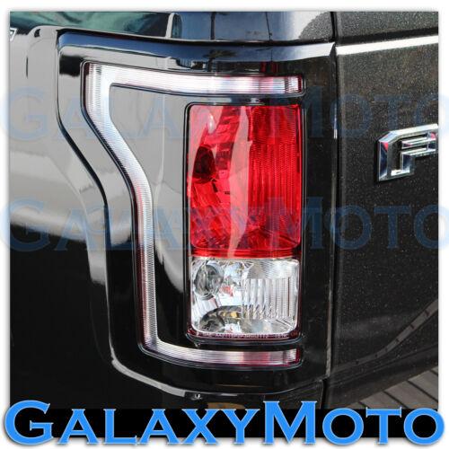 15-16 Ford F150 Truck Black Taillight Tail Light Trim Bezel Cover 2015-2016