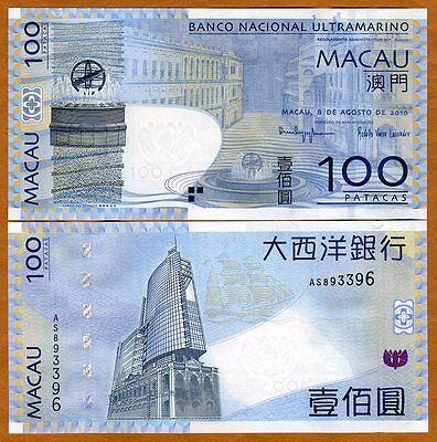 Macao 10 Patacas 2010 P-80 BNU Unc Macau