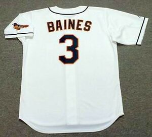 online store ca2cb 1dd00 Details about HAROLD BAINES Baltimore Orioles 1995 Majestic Throwback Home  Baseball Jersey