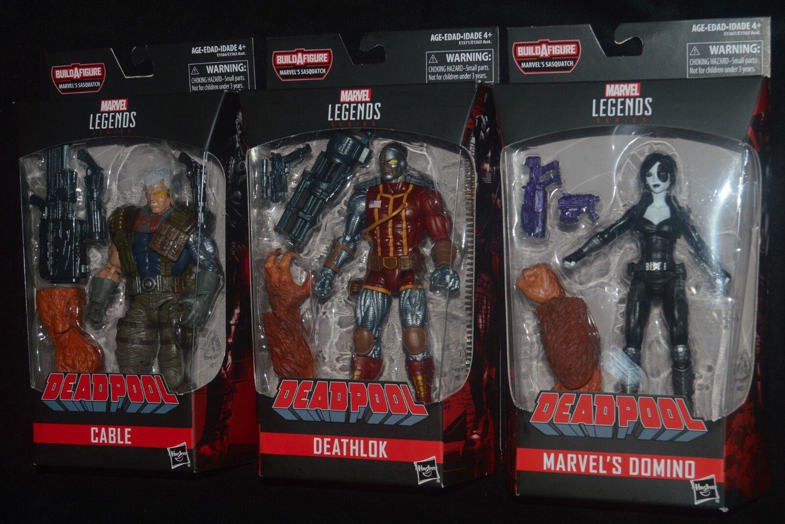 Marvel - legenden kabel, deathlok & domino fr deadpool bigfoot baf - serie mip