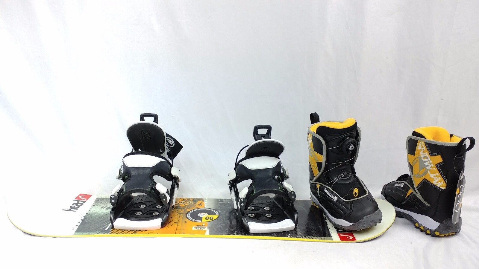 KIDS HEAD snowBoard Snow 90cm, Snow snowBoard Jam Stiefel , with FLOW bindings SEND FITTING INFO a4653a