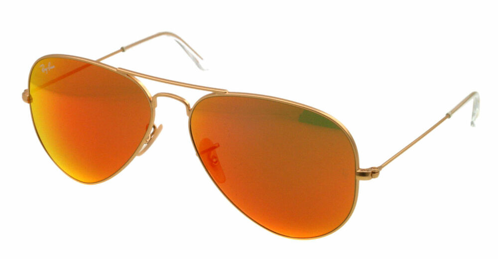 NEW Ray Ban Sunglasses RB 3025 Gold 112/69 AVIATOR LARGE METAL 58mm