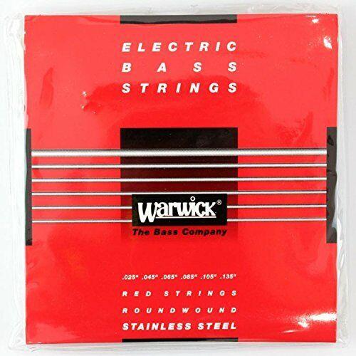 Medium 6-String .025-.135 WARWICK RED Strings Nickel Plated Steel Bass