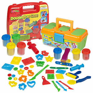 13-17-29-Or-34-Piece-Clay-Craft-Dough-Gift-Set-Tubs-Shapes-Children-Toys-Xmas