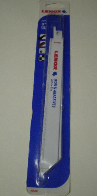 "2 Pieces Lenox 20576 Reciprocating Blade 8/""  Carbide Grit Iron And Abrasives"