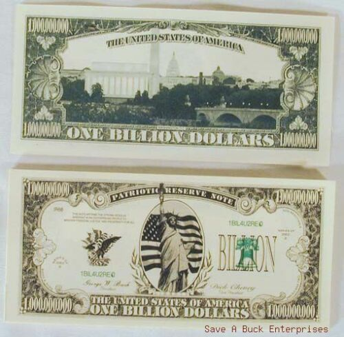 20 BILLION dollar collectible bills - amazing cool!