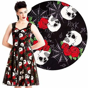 e2c93648c714c Details about HELL BUNNY SKULL ROSES ROCK AND RUIN DRESS NEW 8-22 PLUS SIZE  GOTH TATTOO PUNK