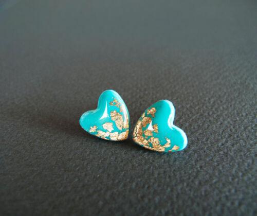 Vintage 925 Plata Aretes De Piedras Preciosas de Color Turquesa Colgantes Pendientes de aro regalo de boda