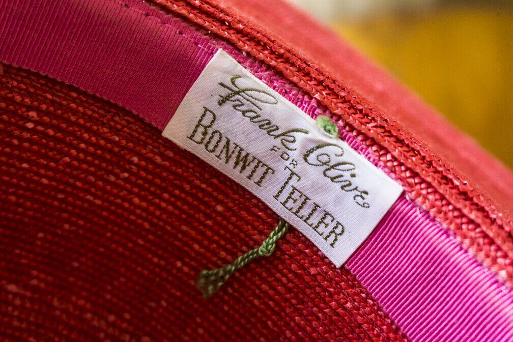 Bonwit Teller - Vintage  Straw Summer Hat - Wide … - image 3