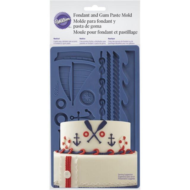 Wilton Easy Nautical Fondant Sugarpaste Gumpaste Silicone Cake Decorating Mould