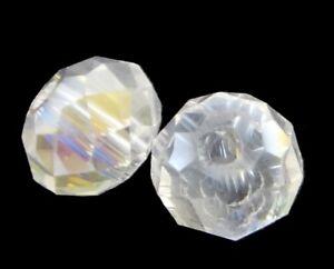 30-Tschechische-Kristall-Glasperlen-4mm-Rondell-Crytal-AB-Schmuck-BEST-X160