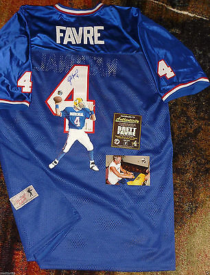 sports shoes e7a3c 6563a GB GREEN BAY PACKERS BRETT FAVRE AUTOGRAPHED LE HAND PAINTED PRO BOWL  JERSEY COA | eBay