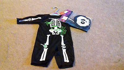 - Nuovo Di Zecca Ragazzi Halloween Completo-skeleton - 0-3 Mesi-sport Bag-mostra Il Titolo Originale 2019 Nuovo Stile Di Moda Online