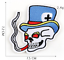miniature 9 - PIRATE SKULL Embroidered Biker Patches Skeleton Iron / Sew on Badges Grim Reaper