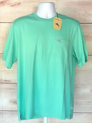 XXL Navy Blue Green Tommy Bahama Men/'s Cool Cotton Crew Neck Pocket T Shirt S