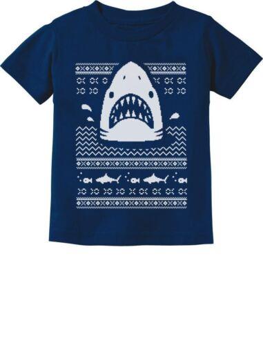 Great White Shark Ugly Christmas Sweater Toddler//Infant Kids T-Shirt Gift