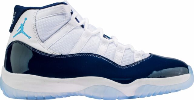 Air Jordan 11 Win Like 82 XI Retro UNC Midnight Navy Blue White 378037 123
