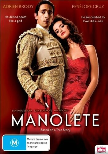 1 of 1 - Manolete DVD - New/Sealed Region 4 DVD