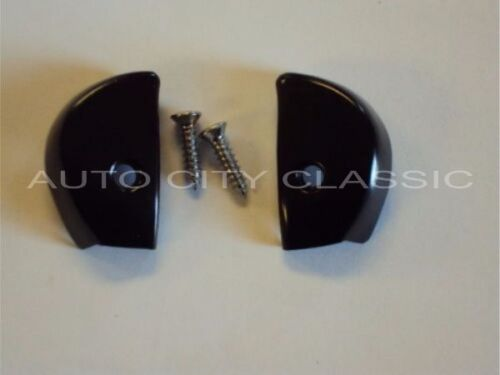 1957 CHEVROLET PADDED DASH END CAPS WITH SCREWS NEW