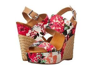 Jessica Simpson Soft Pink Anika Platform Wedge Floral Open Sandales Floral Wedge fb53f4