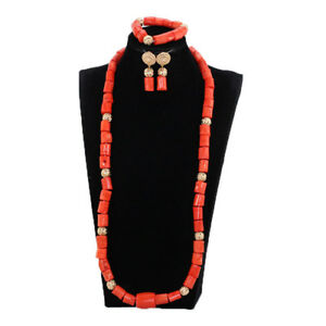 35-034-Real-Coral-Beads-Jewelry-Set-African-Women-Wedding-Luxury-Necklace-Earring