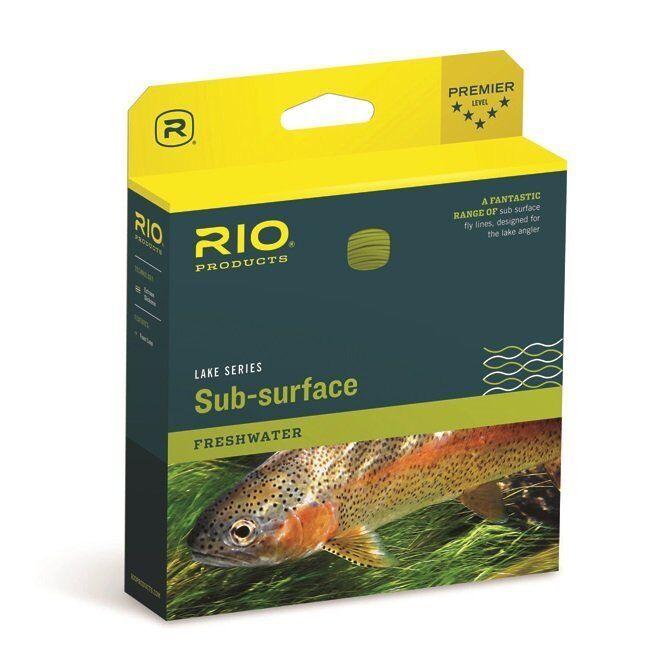 RIO AQUALUX II SUB-SURFACE WF-7-I INTERMEDIATE SINKING CLEAR TIP FLY LINE