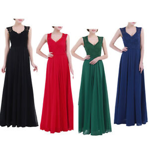 Women-Long-Maxi-Dress-Cocktail-Evening-Bridesmaid-Party-Formal-Wedding-Prom-GOWN