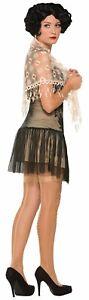 Tan Beige Lace Shoulder Shawl Roaring 20's Flapper Adult Costume Accessory