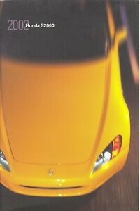 Automobile Memorabilia Mint Vintage 2000 Honda S2000 Dealers Sales Brochure