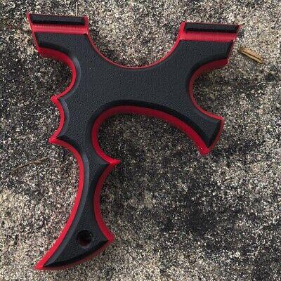 "ANY COLOR. Catapult.Handmade /""MATRIX/"" OTT Red HDPE Hunting Slingshot"