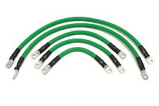 Club Car Precedent Golf Cart Battery Cable Set 4 Gauge 8 VOLT 2004 & UP GREEN