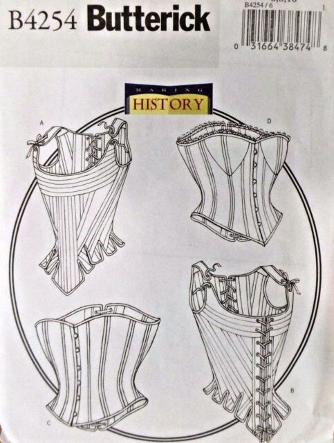 B4254 Butterick 4254 Misses Plus Size Stays Corset Sewing Pattern Costume