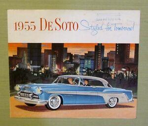Original 1955 Desoto Fold Out Sales Brochure Mashak Motors Van Nuys Blvd Ca Ebay