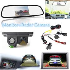 Car Radar Sensor CCD Car Reverse Camera +4.3Inch TFT-LCD Mirror RearView Monitor