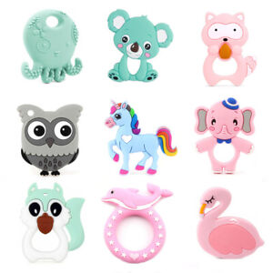 Details About Bpa Free Food Grade Silicone Baby Teether Teething Chew Diy Sensory Toy Pendant