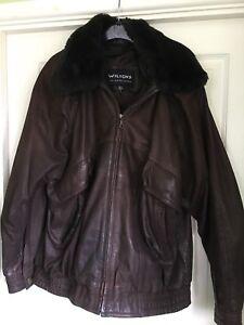 Ladies Manteau Wilsons Taille Manteau Leather L Real fwqTUqIEx