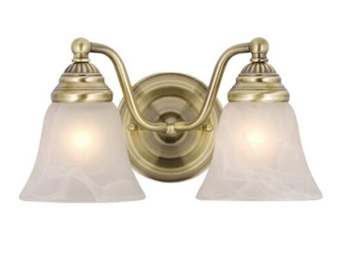 Vaxcel 2 L  Antique Brass Bathroom Vanity Standford Wall Fixture Sale VL35122A