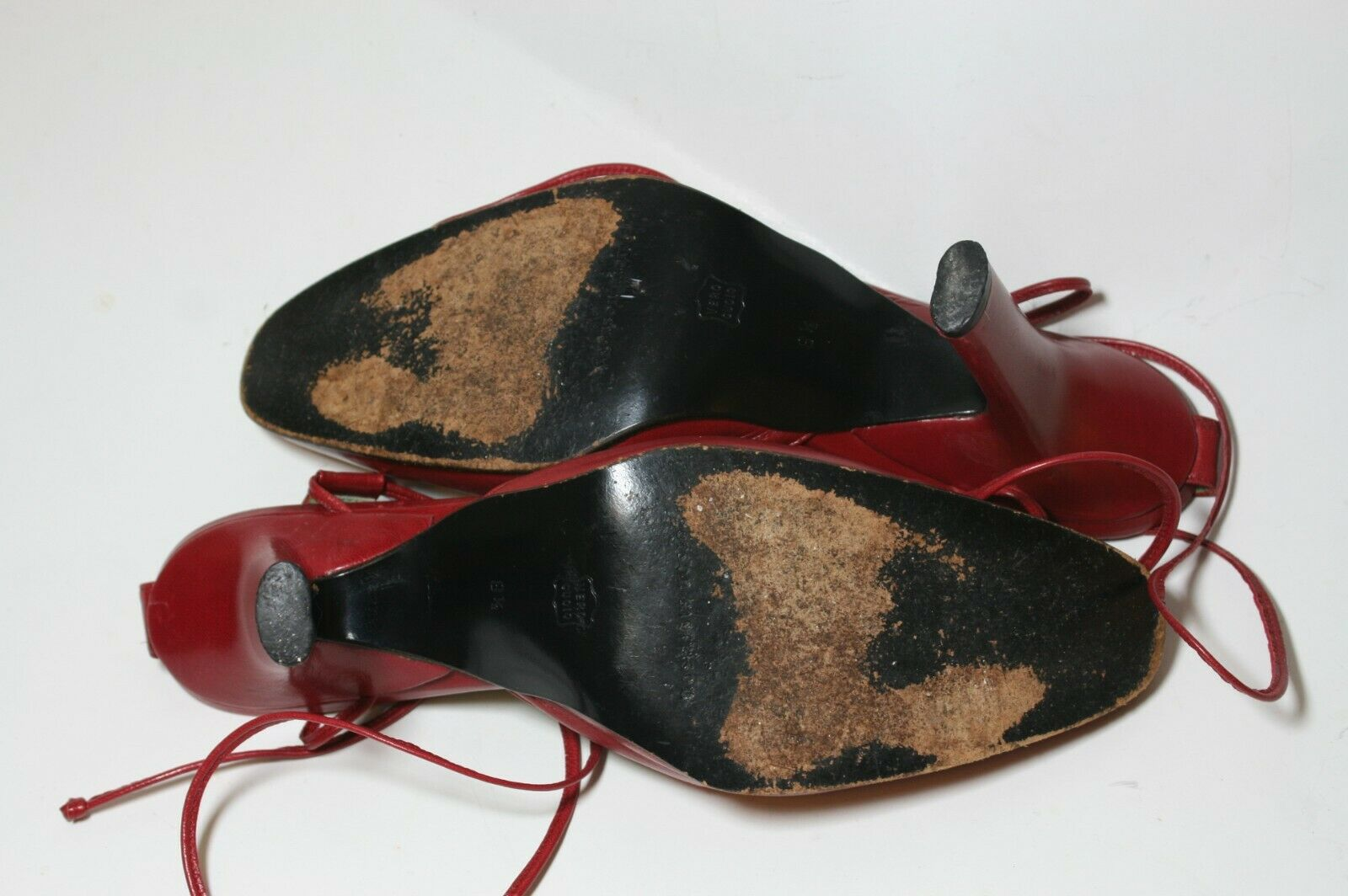 SIGERSON MORRISON SHOES RED LEATHER ANKLE WRAP PU… - image 7