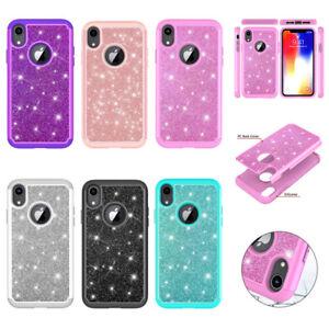 Simple-2-in-1-Shockproof-Hybrid-Bling-Glitter-Diamond-Case-Cover-For-Cell-Phones