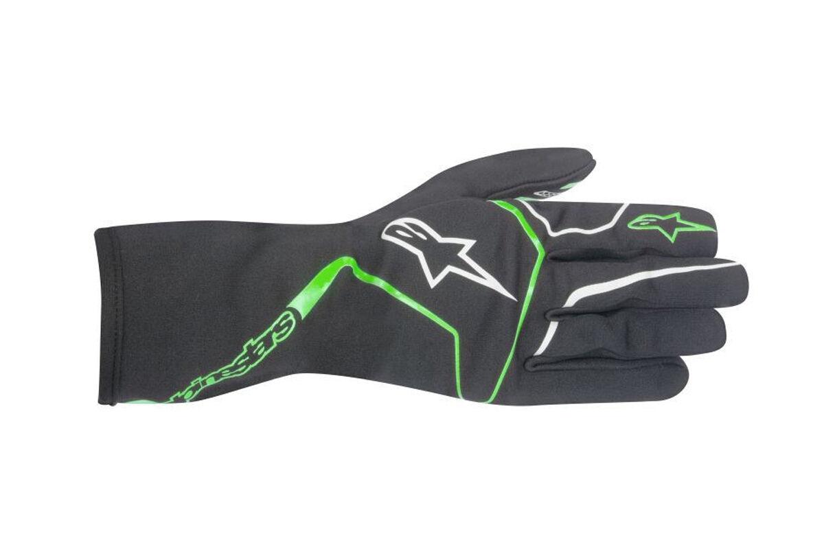 ALPINESTARS TECH 1-K RACE Karthandschuh Handschuhe 1K Anthrazit Grün